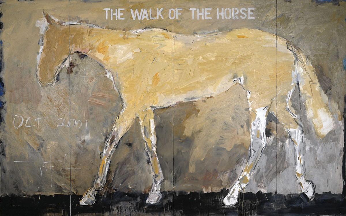 Basil-Blackshaw-ARHA-RUA-The-Walk-of-the-Horse-2001-oil-on-canvas-152.5-x-244cm-private-collection